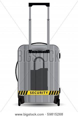 Lock Symbol On Suitcase