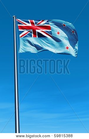 Ross Dependency (NZ) flag waving on the wind
