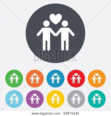 Couple sign icon