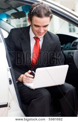 Businessman on the road