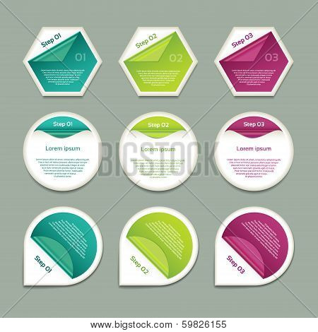 Vector Progress Background / Product Choice or Version