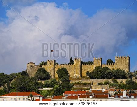 Sao Jorge Castle In Lisbon