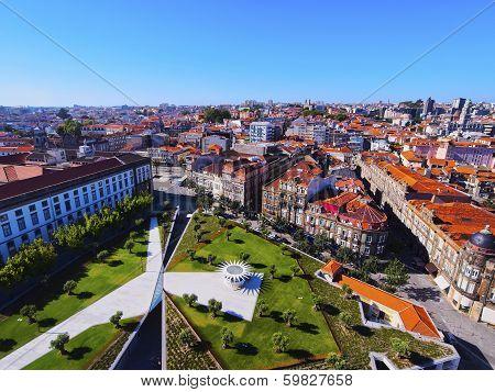 Lisbon Square In Porto