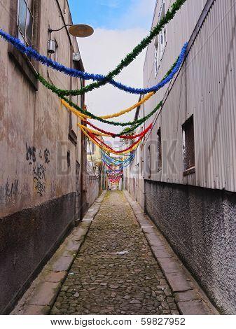 Narrow Lane In Porto