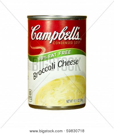 Can Of Campbell's Broccoli Cheese Soup