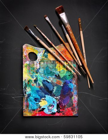 Brush and painting