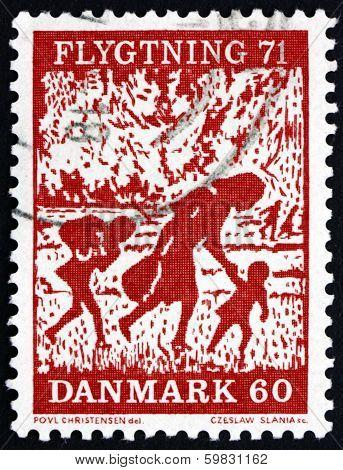 Postage Stamp Denmark 1971 Refugees