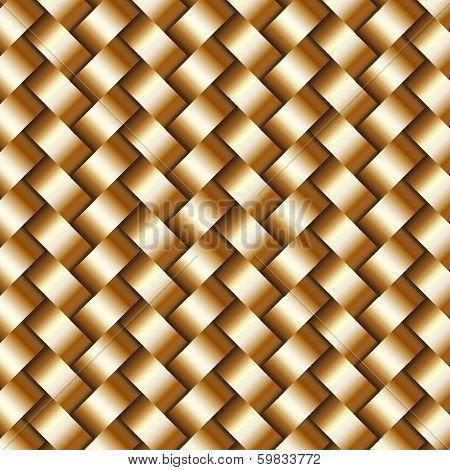 Vector abstract metallic  wickerwork pattern
