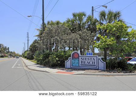 Siesta Beach Entrance Sign