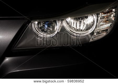 Car Headlamp Reflections