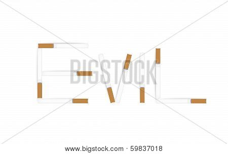 Anti tobacco vector banner.