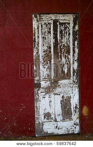An old bard door