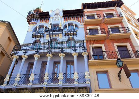 Aragon Teruel El Torico modernist building in Plaza Carlos Castells Spain