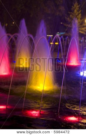 Colored Fountain