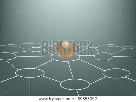 Golden Glossy Sphere