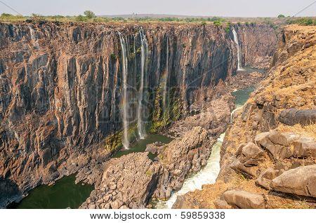 Victoria Falls In The Dry Season