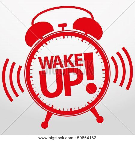 Wake up alarm clock icon, vector illustration