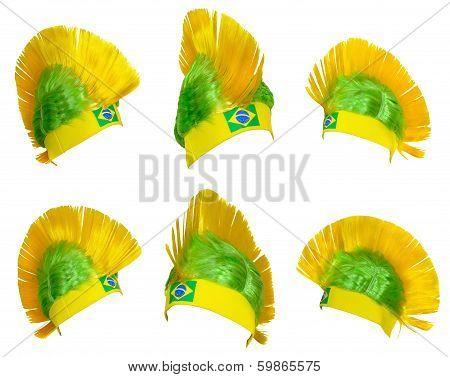 Headgear Fan Of The Brazilian National Team