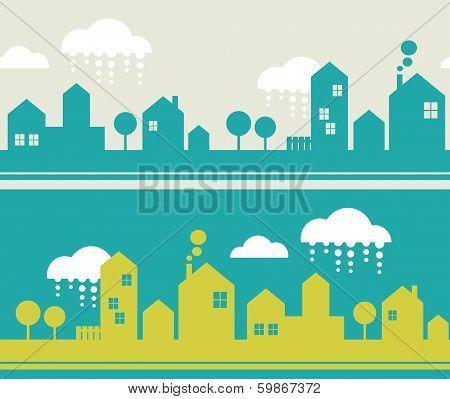 City seamless pattern.