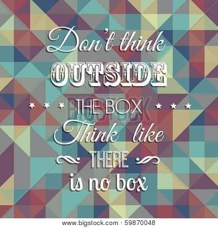 Inspirational quote on a geometric design background