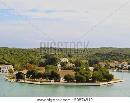 Small Island In Mahon On Minorca
