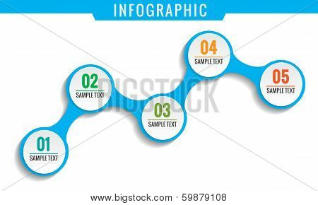 Simply Infographic, Five Steps Template.