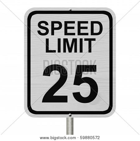Speed Limit 25 Sign