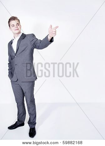 Handsome Businessman Posing.
