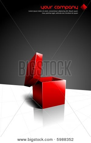 Vector Design with an Open Red Box