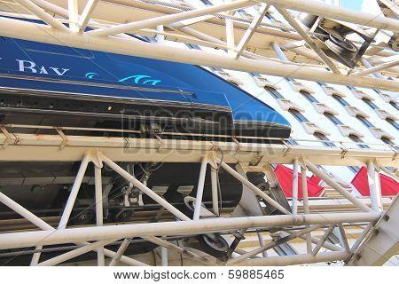Monorail Train In Las Vegas.