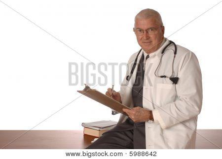 Doctor On White Vertical