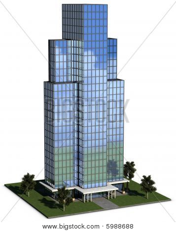 Modern Hi-rise Corporate Office Building
