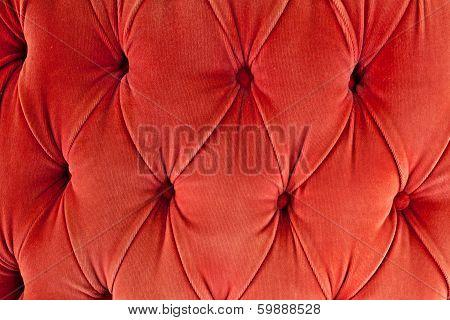 Red Sofa Upholstery Velvet Fabric