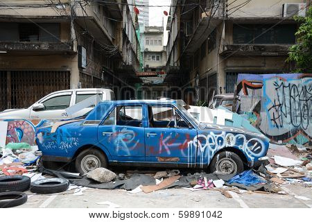 graffitti landmark car show at bangkok