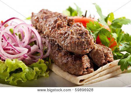 Lamb Kebab with Salsa Sauce