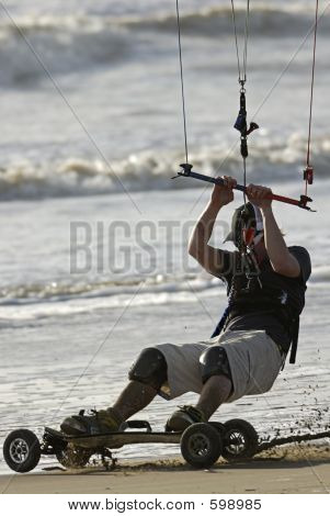 Kite Skateboarder Close-up 2