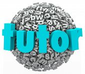 picture of tutor  - Tutor Letter Word Ball Learning Reading Writing Spelling Lesson - JPG