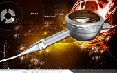 foto of dental impression  - Digital illustration of Micro motor dental polisher   in colour background - JPG