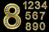 image of arabic numerals  - Number set - JPG