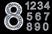 stock photo of arabic numerals  - Numbers set - JPG