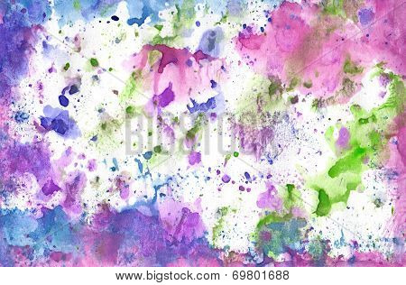 Handwork Aguarelle  Background. Bright Gorgeous Image For Scrapbooking, For Print  And Other Design