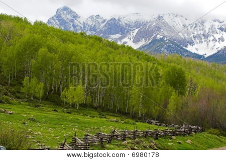 Mountain Landscape And Fence