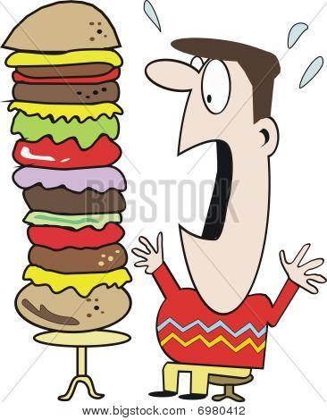 Funny fast food cartoon