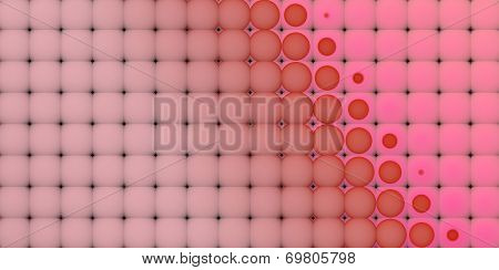 3D Abstract Tiled Mosaic Background In Pink Red