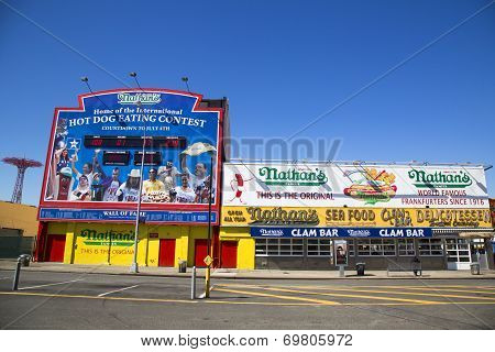 The Nathan s original restaurant at Coney Island