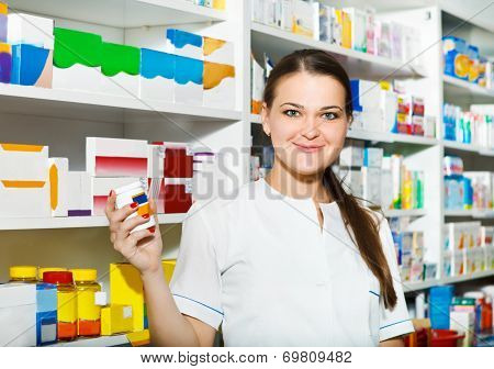 Portrait Of Pharmacist At The Drugstore