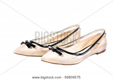 Shoes, Pair Of Beige Female Shoes
