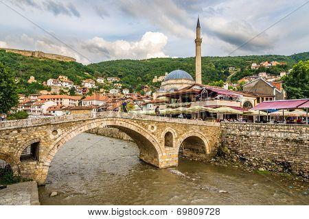 View At The Old Stone Bridge In Prizren
