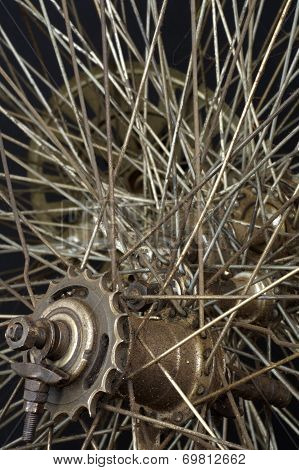 Old round spokes bicycle 2