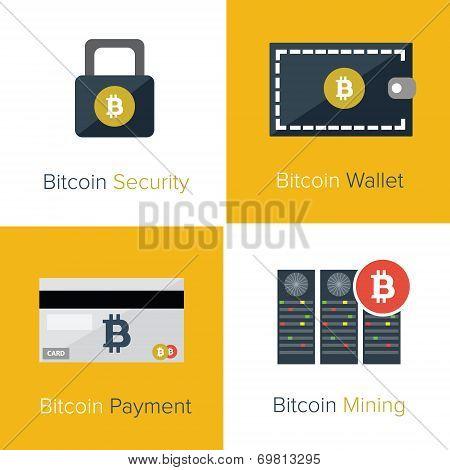 Flat bitcoin set